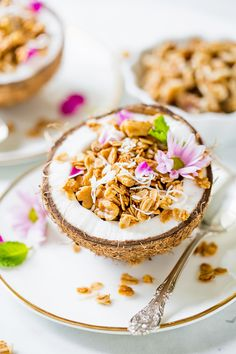 If you have never tried Homemade Granola, you're in for a treat with this delicious Homemade Coconut Walnut Granola recipe!