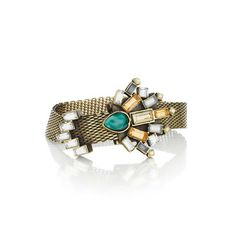 Crystal Fan Adjustable Mesh Bracelet is the perfect item for your perfect holidays! Gorgeous detailing and color! Click on www.chloeandisabel.com/boutique/lisab to order today! #Christmas #Jewelry #Love