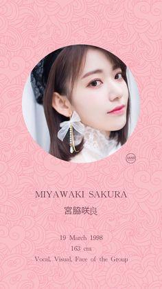 (Credits to the real owner/s) Kpop Girl Groups, Kpop Girls, Yuri, Sakura Miyawaki, Pre Debut, Japanese Girl Group, The Wiz, Photo Cards, Idol