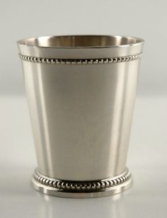 "Mint Julep Cups 3-1/4"" Silver Plated Vases $6.50 each/// for the center pieces?"