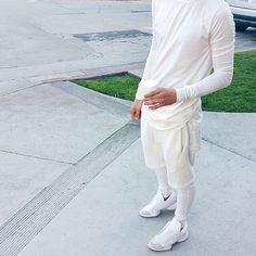 All white outfit by @m9chael. #dailytrillfashion