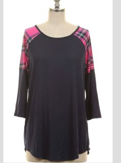 The Road Goes On Plaid Top - Also in Plus Size