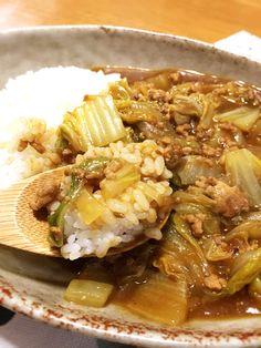オイスターソースが隠し味!白菜とひき肉のカレー♪〜ちょこっと中華風味? - ***Persian's Diary *** Japchae, Ethnic Recipes, Food, Essen, Meals, Yemek, Eten
