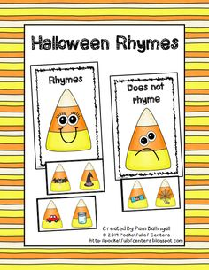 A fun Halloween themed rhyming activity! This is great for a work station or circle time activity!