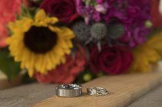 #wedding #fall #rings #bouquet