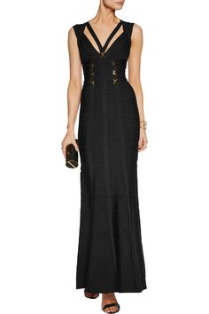 Shop on-sale Hervé Léger Embellished bandage gown . Browse other discount designer Dresses & more on The Most Fashionable Fashion Outlet, THE OUTNET.COM