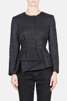 Proenza Schouler — Peplum Jacket Black — THE LINE