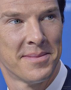 The man does look good even in extreme close-up.