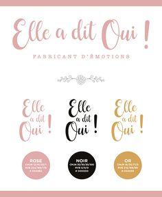 Création du logo Elle a dit Oui ! / boutique pour futurs mariés - Caen - France / Création graphique WALA studio / Freelance