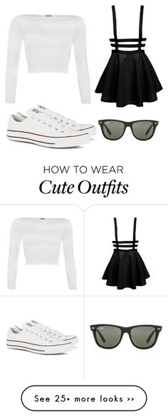 """Luke's Outfit"" by missmollymaycarolan on Polyvore featuring WearAll, Converse and Ray-Ban"