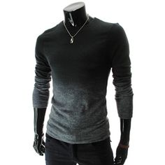 Gradient Color Knit Tshirts are my new obsession Sharp Dressed Man, Well Dressed, Moda Pop, Style Masculin, Mens Fashion, Fashion Outfits, Swagg, Men Dress, Men Sweater
