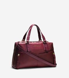 Felicity Satchel $298 in Windsor Red, black and tan. Love the look of the soft leather. Has a large top zipper making it very easy to protect and remove your purse's contents. Lovely.
