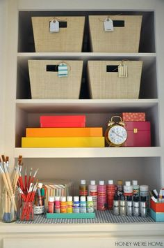 Organized craft closet | Honey We're Home