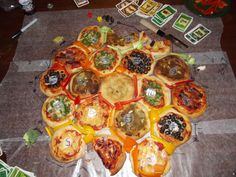 how can we do a flower arrangement of the catan board?