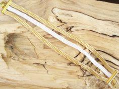sutaszowe co nieco: Biało złota bransoletka