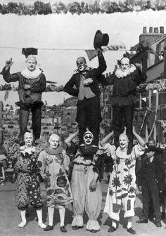 a cadre of clowns