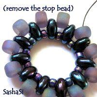 Rivoli Pendant with Twin Beads - good picture tute ~ Seed Bead Tutorials