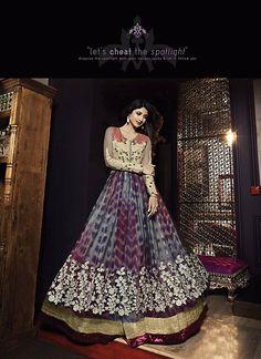 Shilpa Shetty Churidar Style Salwar Kameez in Gray Color - CEWU076A01A6Y | Indian Trendz