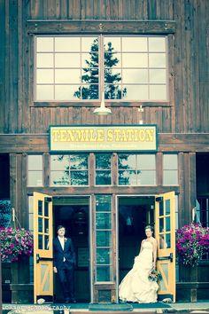 Wedding at Ten Mile Station in Breckenridge, CO.