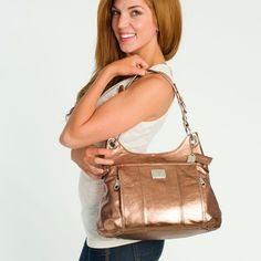 GRACE ADELE purse, style laney in bronze, I absolutely want and adore this purse!!!!! Just wish it wasn't so darn expensive :........( its beautiful!!!
