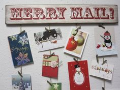 Merry Mail - Christmas card holder | Christmas Crafts | Pinterest ...