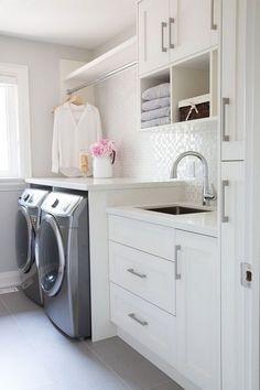 Muebles para lavaderos en color blanco