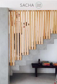 Proyectos a medida : Baranda de escalera en madera maciza Paraíso : @sachamuebles