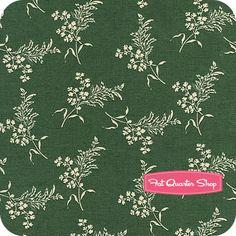 Civil War Ladies Forest Green Wildflower Sprigs Yardage SKU# 4829-114 - Fat Quarter Shop