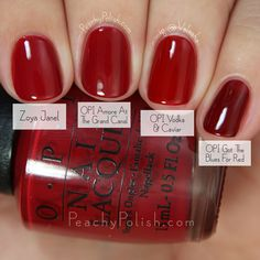 OPI Amore At The Grand Canal Comparison | Fall 2015 Venice Collection | Peachy Polish #red