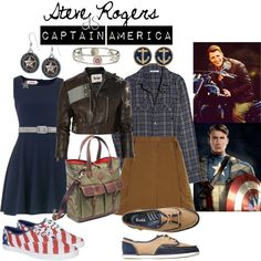 """Steve Rogers as Captain America"" by dancing-when-the-stars-go-blue on Polyvore"