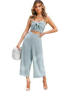 c5072b6fd29de   22.30  Women s Daily   Going out Active   Basic Strap Blue Green Wide Leg  Slim Jumpsuit
