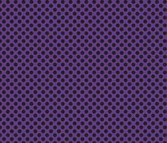 Halloween Purple w/ black dots fabric by bellamarie on Spoonflower - custom fabric