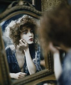 "Mirror Mirror--This photo reminds me of ""Medea"" by Frederick Sandys as well as any number of Waterhouse paintings, so it's included in my Art & Artists board"