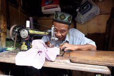 Pak Sajum The Old One-leg Tailor, Pasar Lama Tangerang, Indonesia