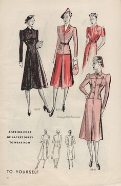 Butterick Fashion News March 1939 | VintageStitches.com