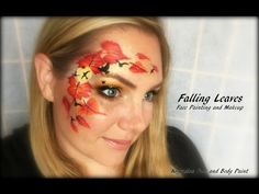 Falling Leaves - Face Painting and Makeup - YouTube