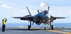F-35B's First Landing Aboard the USS Wasp