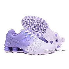 4a836571693125 Women NIKE SHOX DELIVER White Purple 809 2016 In Stock Super Deals
