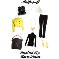 """Hufflepuff"" by pheonix-sparks on Polyvore"