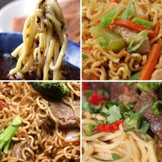 Featuring Curry Noodle Soup, Beef & Broccoli Chow Mein, One-pot Chicken Chow Mein, Tsukemen (Dipping Noodles) and Taiwanese Beef Noodle Soup Greek Recipes, Asian Recipes, Healthy Recipes, Snack Recipes, Tasty Noodles Recipe, Tasty Videos, Beef And Noodles, Asian Cooking, Noodle Recipes