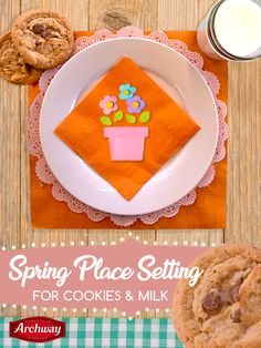 We're getting excited for spring! We've only been waiting for this season for three months. You'll need: assorted colors of candy melts, vanilla frosting, assorted colors of sprinkles, Archway® Dutch Cocoa cookies. Instructions: Spread vanilla frosting over Dutch Cocoa cookie until completely covered. Place one candy melt in the center of the cookie and surround the outer ends. So cute!