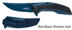 Kershaw Outright 8320 is a brilliant blue color that you will just fall in love with. First you will notice the blue blade, then you will see that the blade has an upsweep on it, that is perfect for slicing. Fixed Blade Knife, Belt Holder, Cool Lock, Types Of Knives, Glass Breaker, Camping Tools, Knife Handles, Tactical Knives, Knives