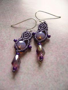 Ohrhänger - * Ohrhänger  MaiFlieder  *  - ein Designerstück von crochet bei DaWanda