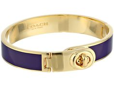 COACH Enamel Turnlock Hinged Bangle