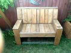 Pallet Garden Bench   101 Pallet Ideas