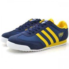 adidas Originals Dragon: Blue/Yellow ADIDAS Men's Shoes Running - http://amzn.to/2hw3Mi7