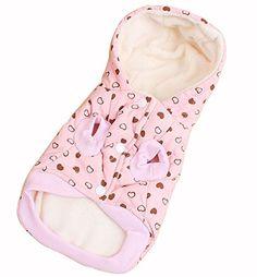 Nuovo Autunno Inverno Animale domestico Cane Abiti Amore Corona di lana con cappuccio Orso Due gambe breve peluche Cappotto Rosa 4 taglie (L)