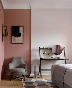 Bedroom Design Inspiration, Home Decor Inspiration, Living Room Red, Living Room Decor, Dusty Pink Bedroom, Minimalist Interior, Home Decor Furniture, Diy Bedroom Decor, Living Room Designs