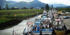 Botes Pesqueros Puerto Aysen, Chile
