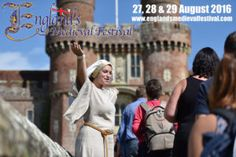 Last chance to #win! Family ticket to England's Medieval Festival, with falconary & jousting